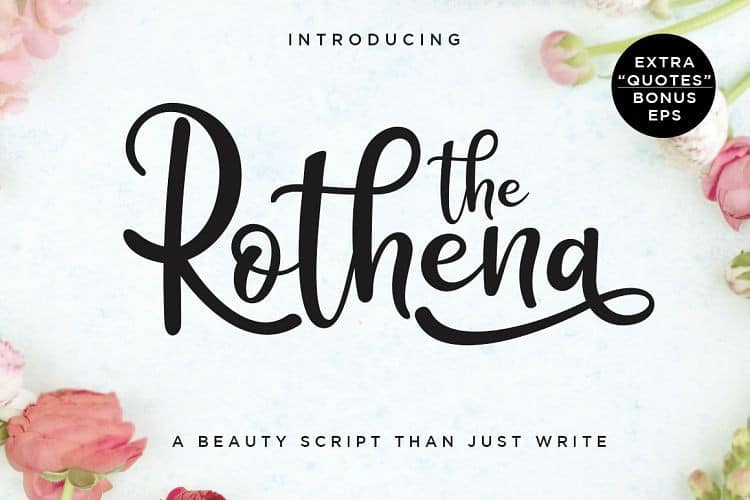 Download The Rothena font (typeface)