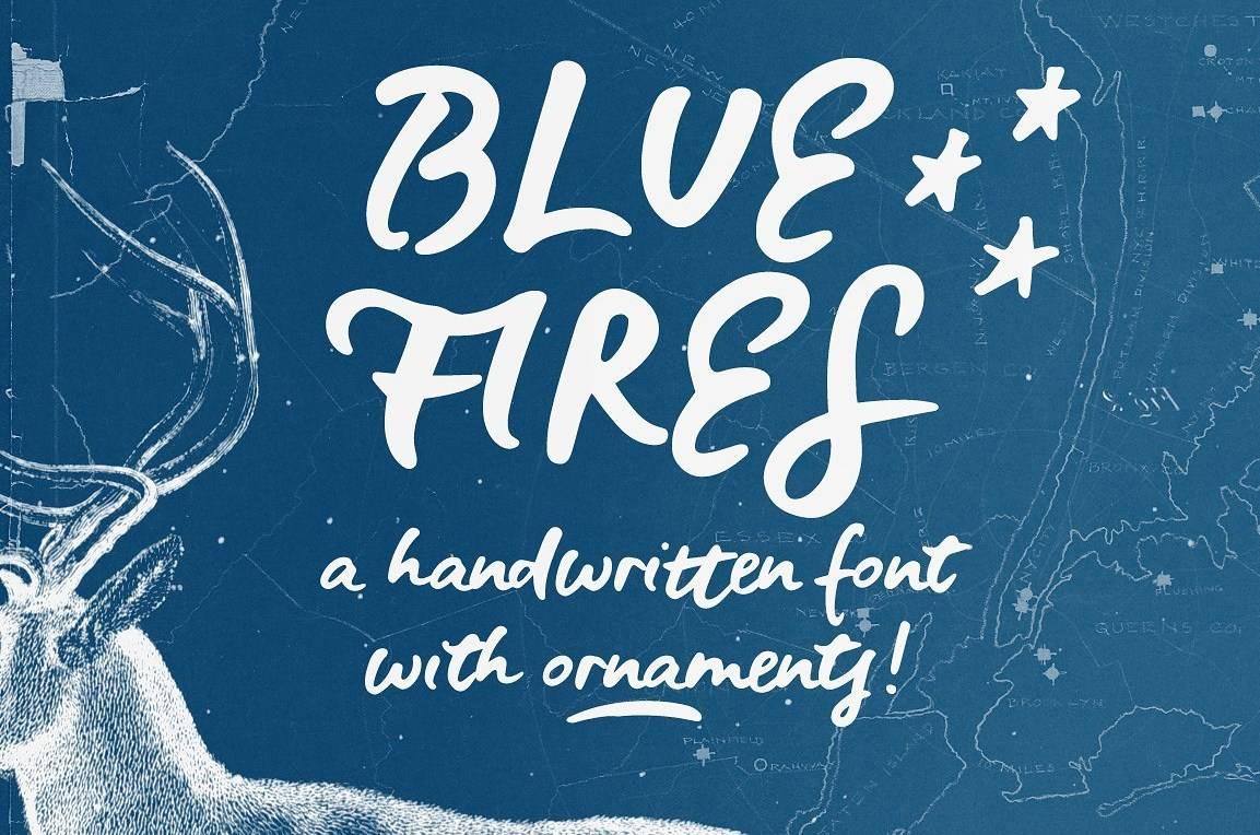 Download Blue Fires font (typeface)