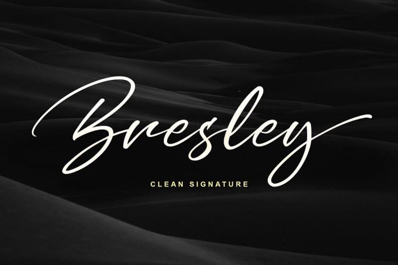 Download Bresley font (typeface)