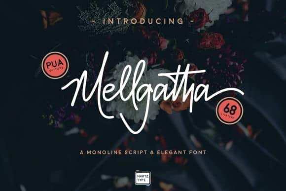 Download Mellgatha font (typeface)