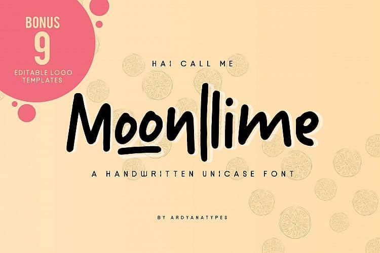 Download Moonllime font (typeface)