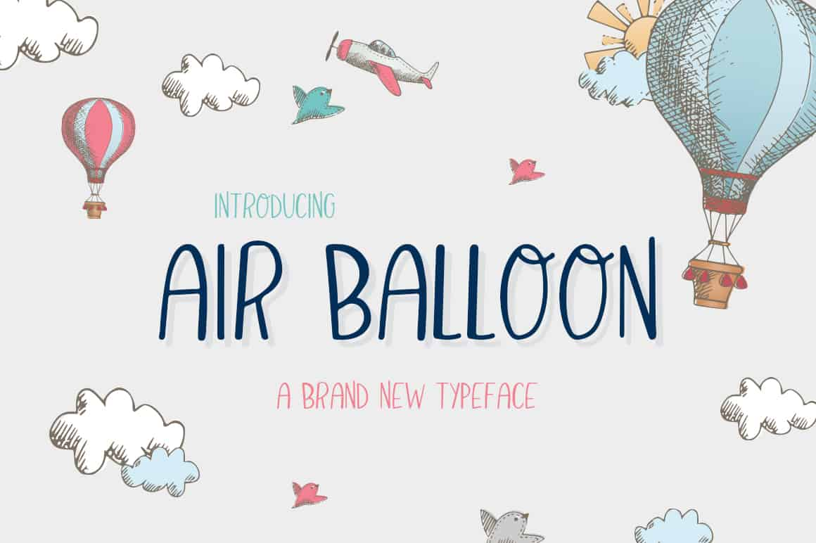 Download Air Balloon font (typeface)