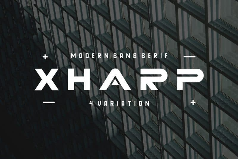Download Xharp font (typeface)