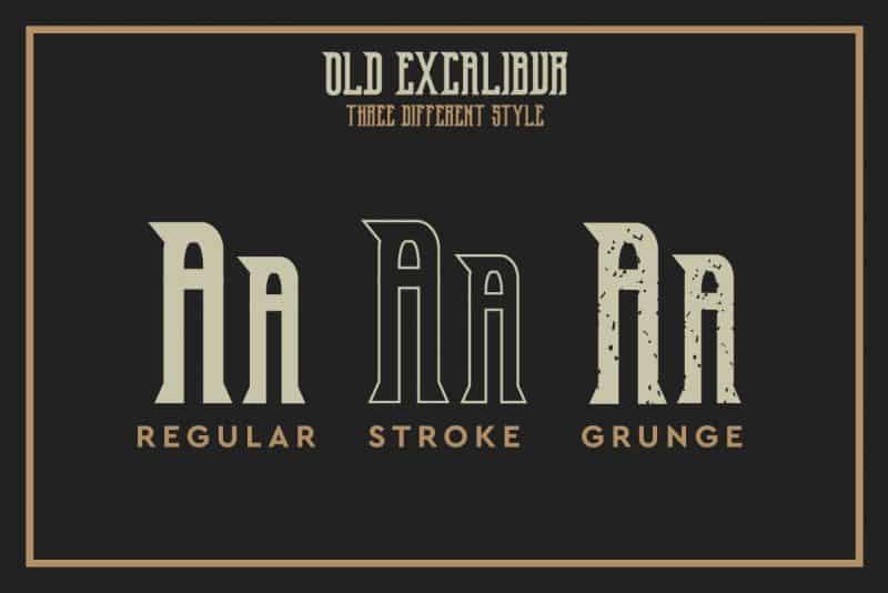 Download Old Excalibur font (typeface)
