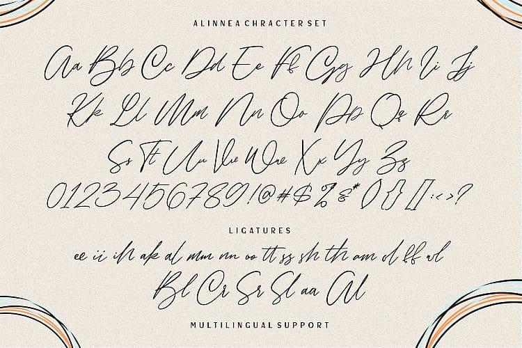 Download Alinnea font (typeface)