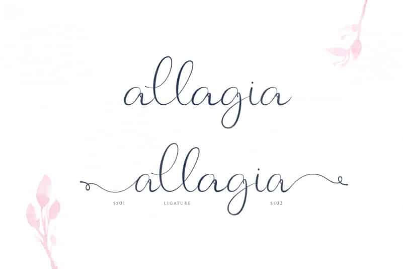 Download Allagia font (typeface)