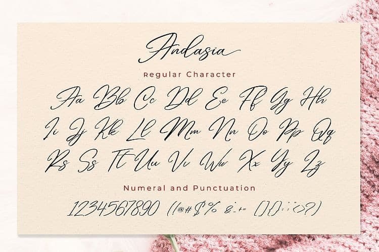 Download Andasia font (typeface)