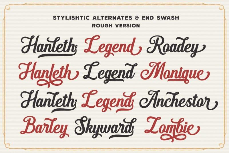 Download Hanleth font (typeface)