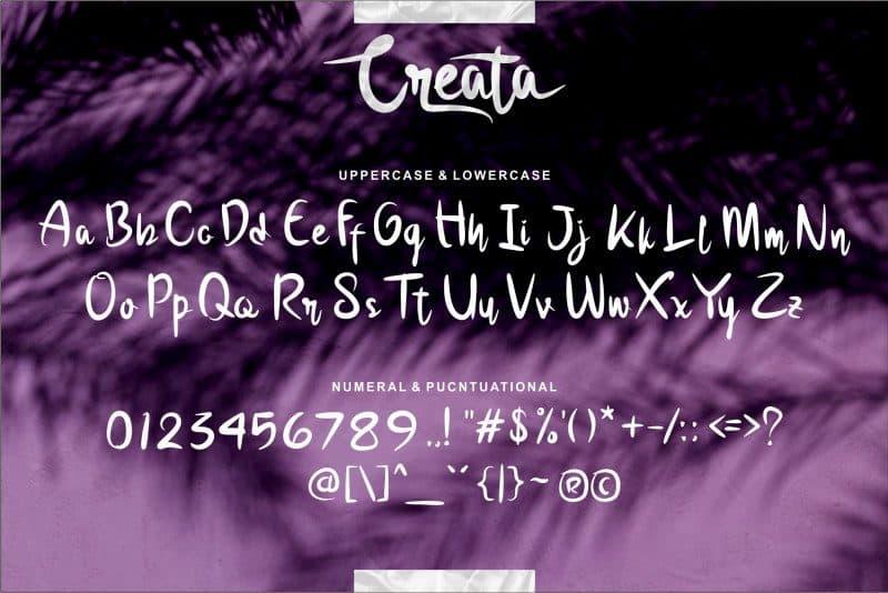 Download Creata font (typeface)