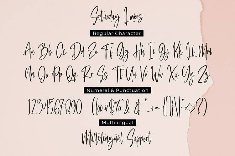 Download Saturday Lovers font (typeface)