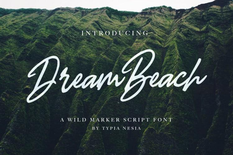 Download Dream Beach font (typeface)