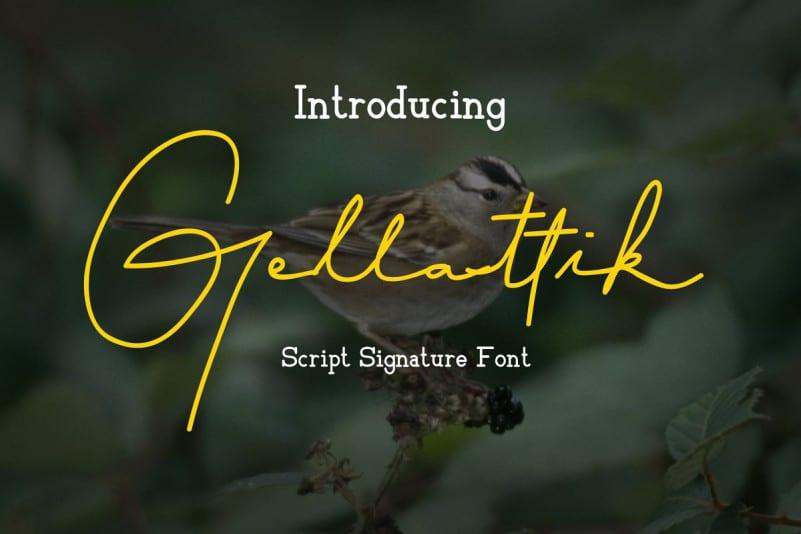Download Gellattik font (typeface)