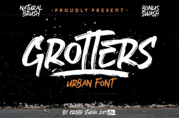 Download Grotters font (typeface)