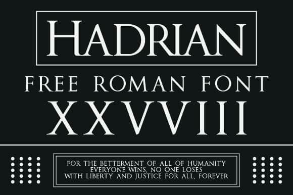 Download Hadrian font (typeface)