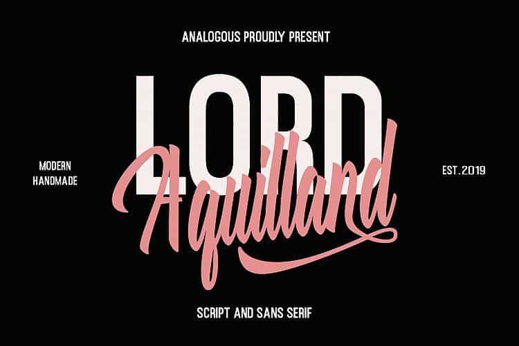 Download Aquilland font (typeface)
