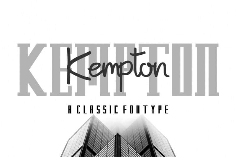Download Kempton font (typeface)