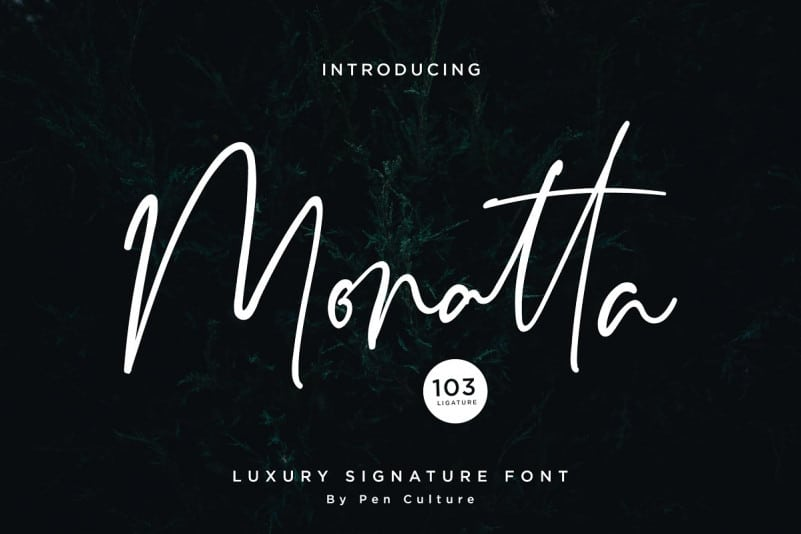 Download Monatta font (typeface)