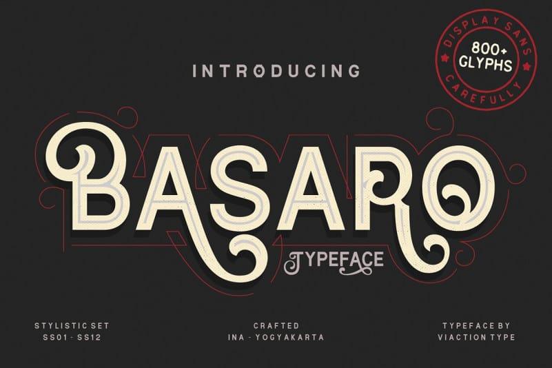 Download Basaro font (typeface)