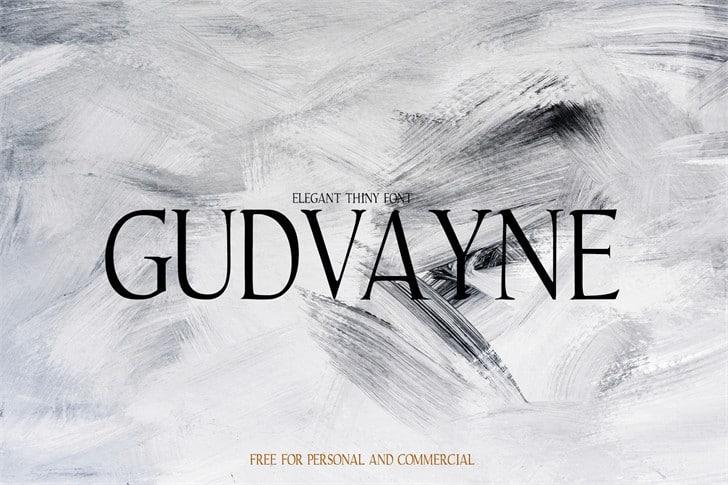 Download Gudvayne font (typeface)