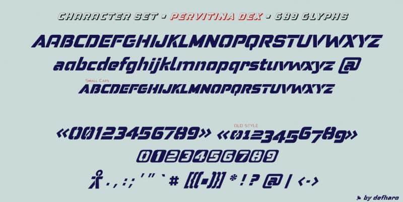 Download Pervitina Dex font (typeface)