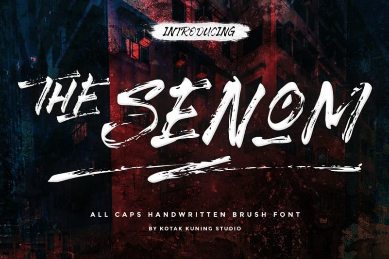 Download The Senom font (typeface)