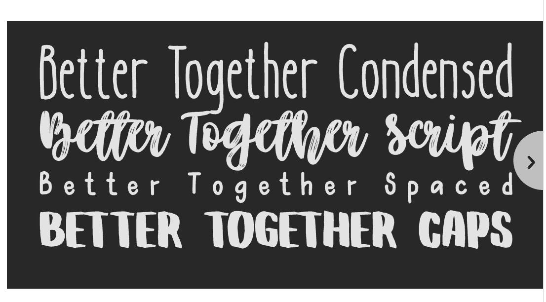Download Better Together font (typeface)