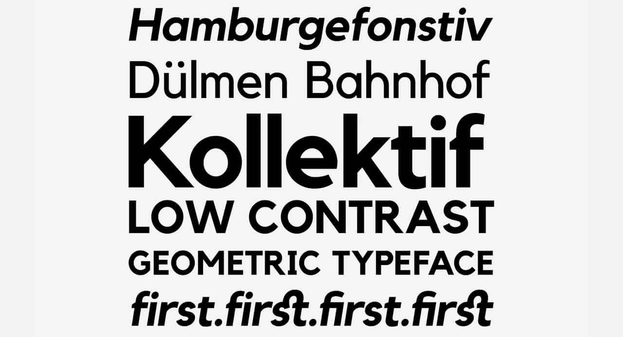 Download kollektif font (typeface)