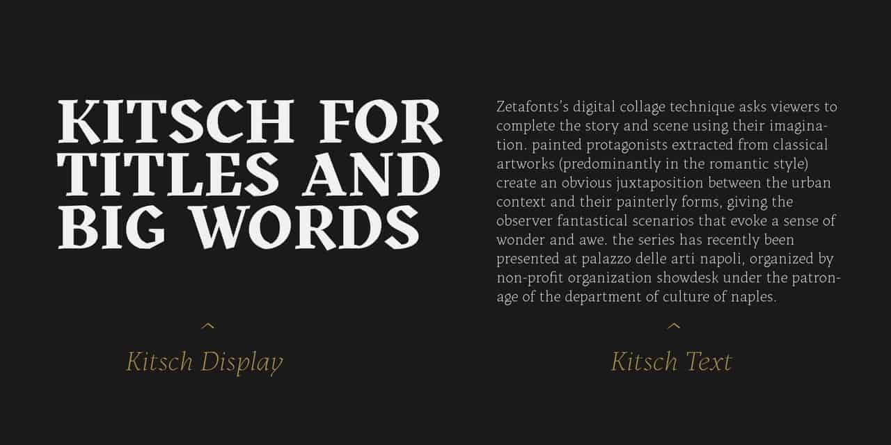 Download Kitsch font (typeface)
