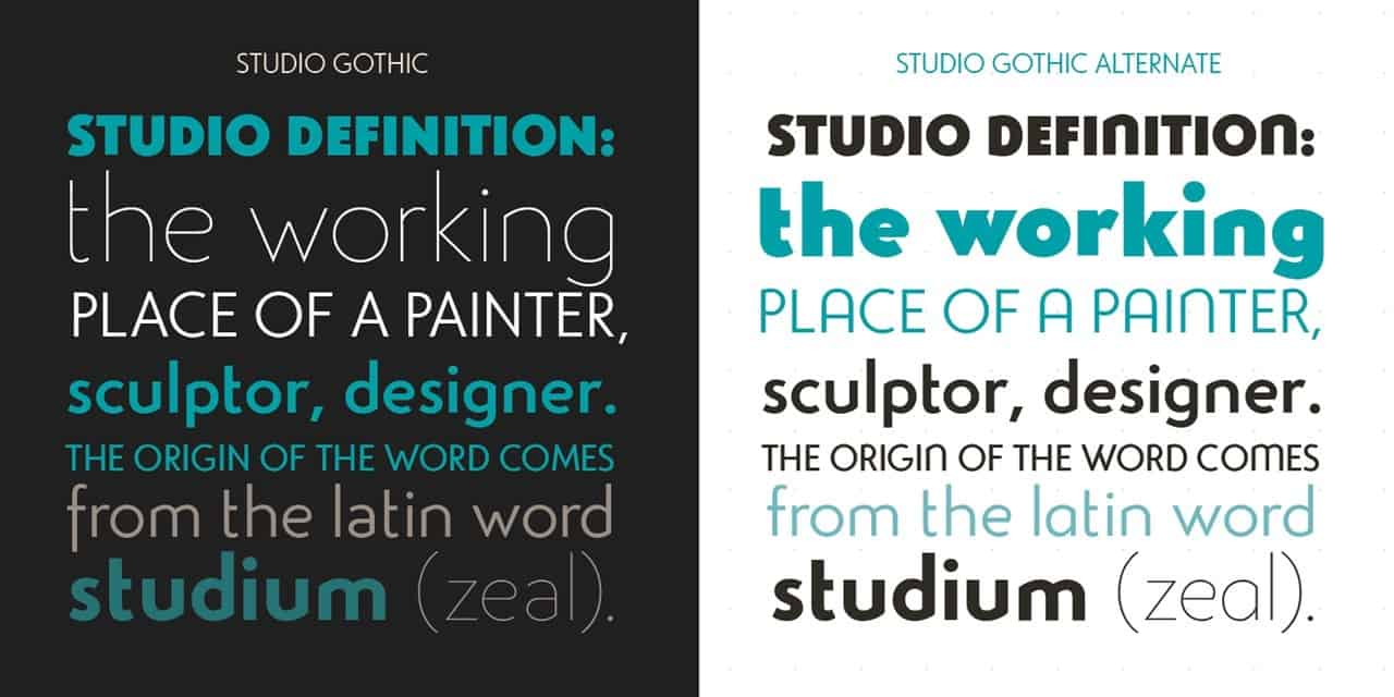 Download Studio Gothic font (typeface)