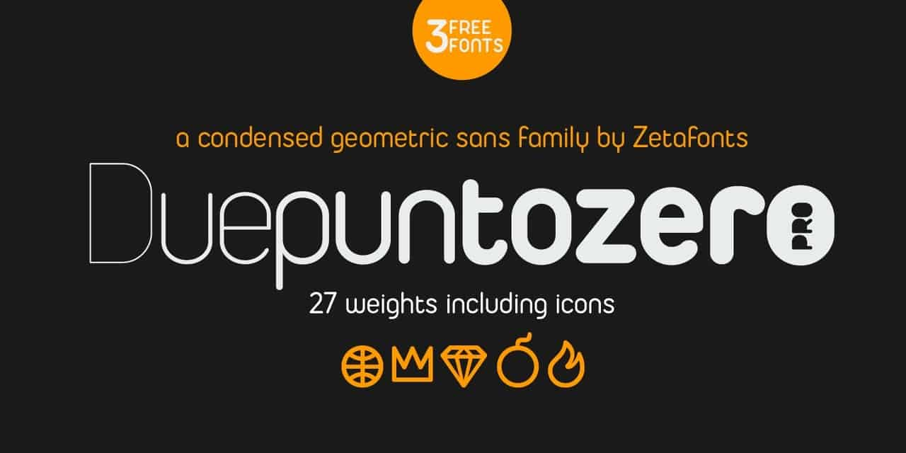 Download Duepuntozero Pro Regular font (typeface)