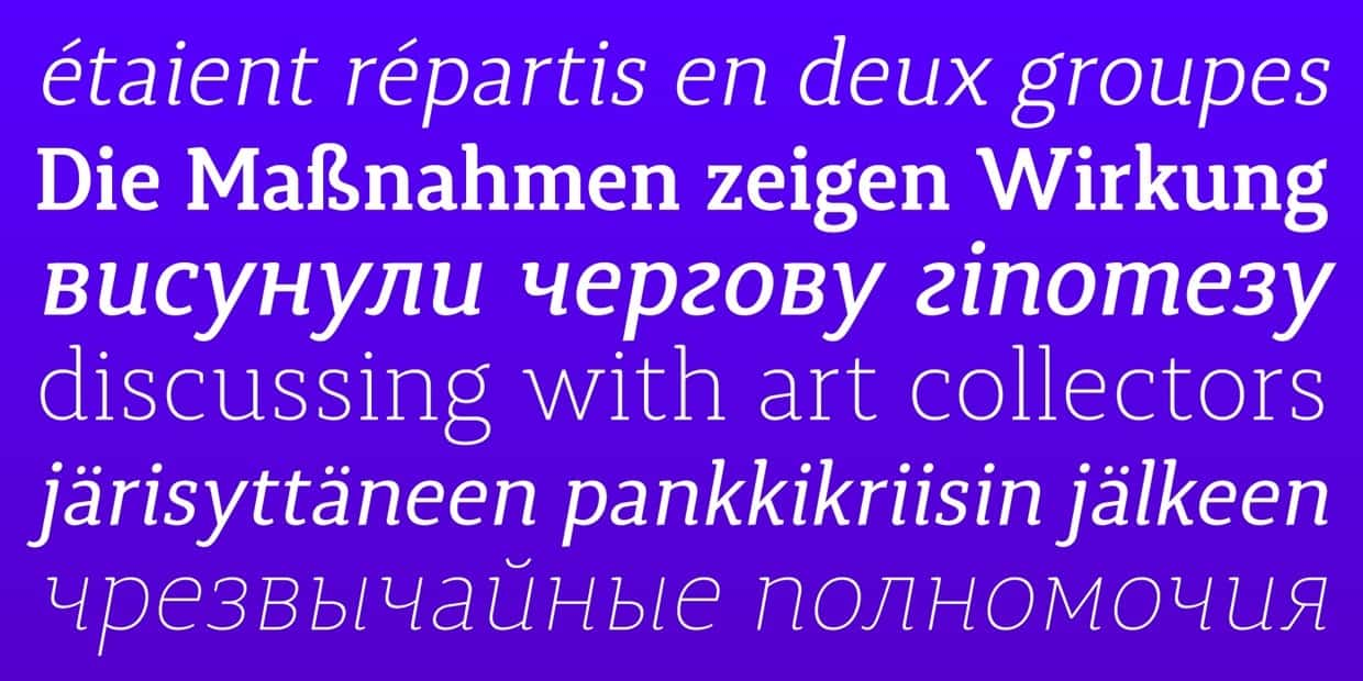 Download Synerga Pro [CYR] font (typeface)