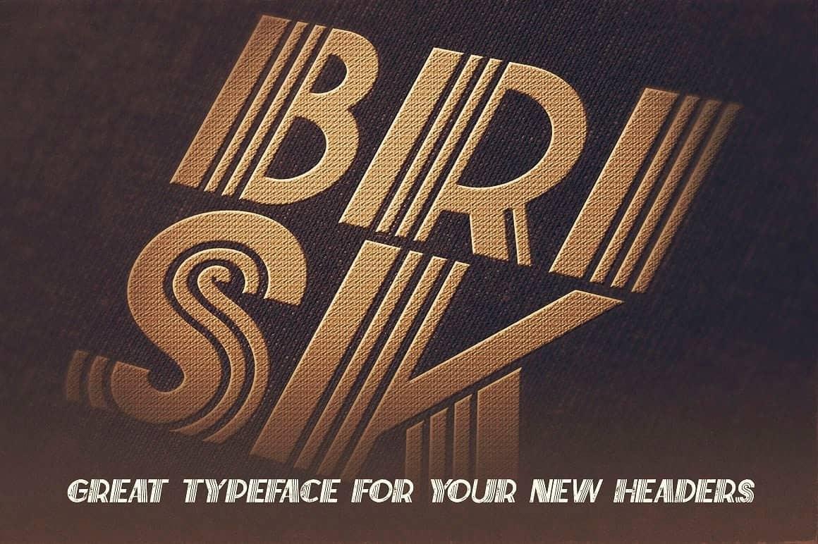 Download BriskInline Grunge font (typeface)