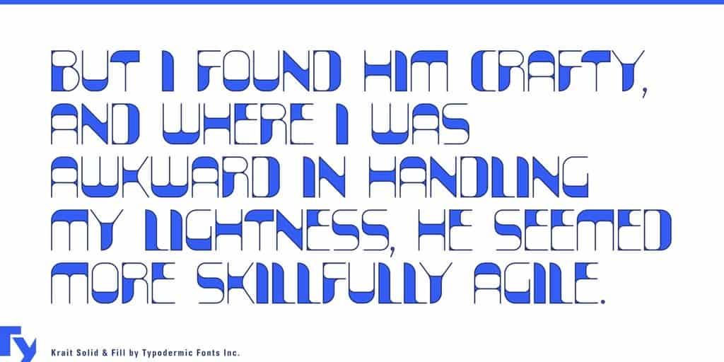 Download krait font (typeface)