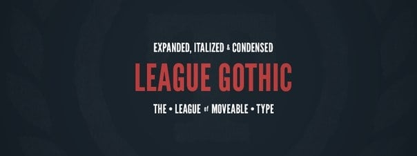 Download League Gothic (cyrillic) font (typeface)