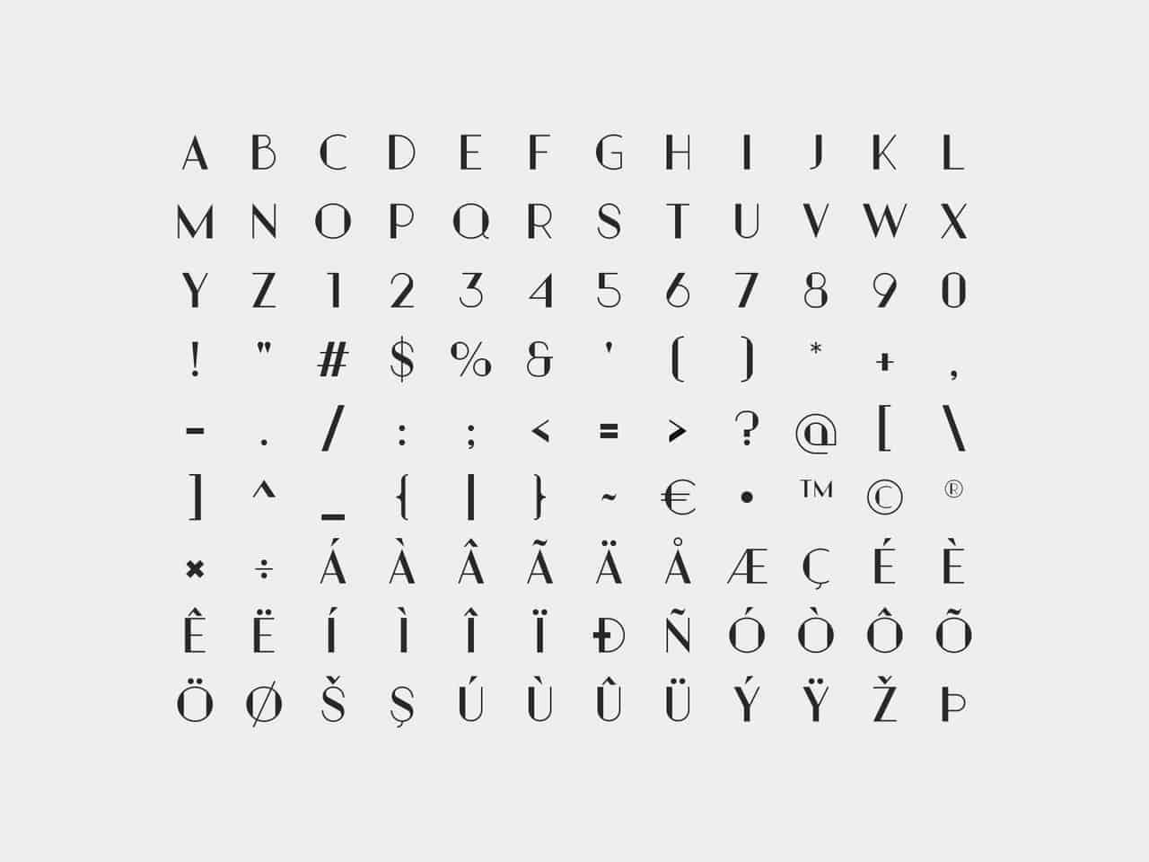 Download Partem Typeface font (typeface)
