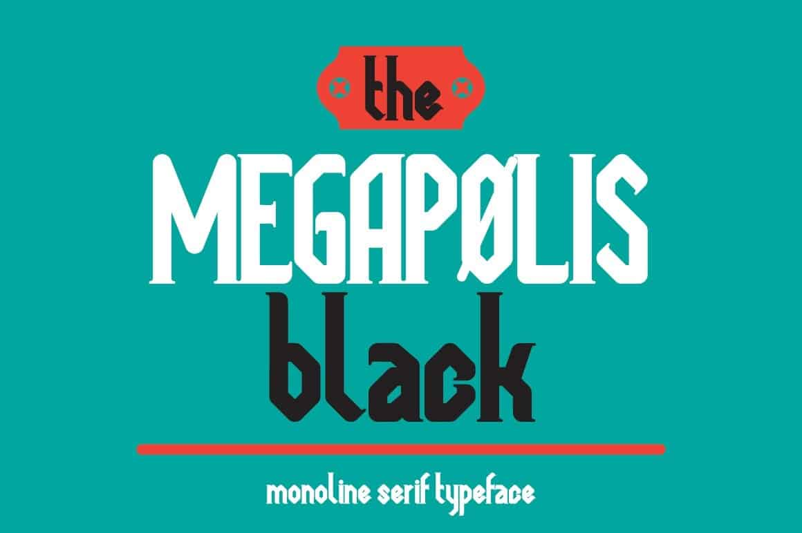 Download Megapolis black font (typeface)