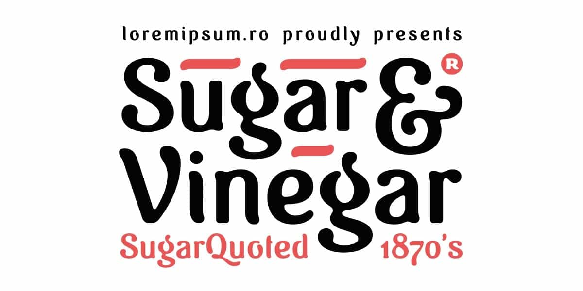 Download Sugar Vinegar font (typeface)