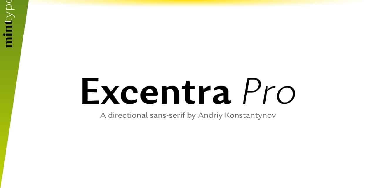 Download Excentra Pro font (typeface)