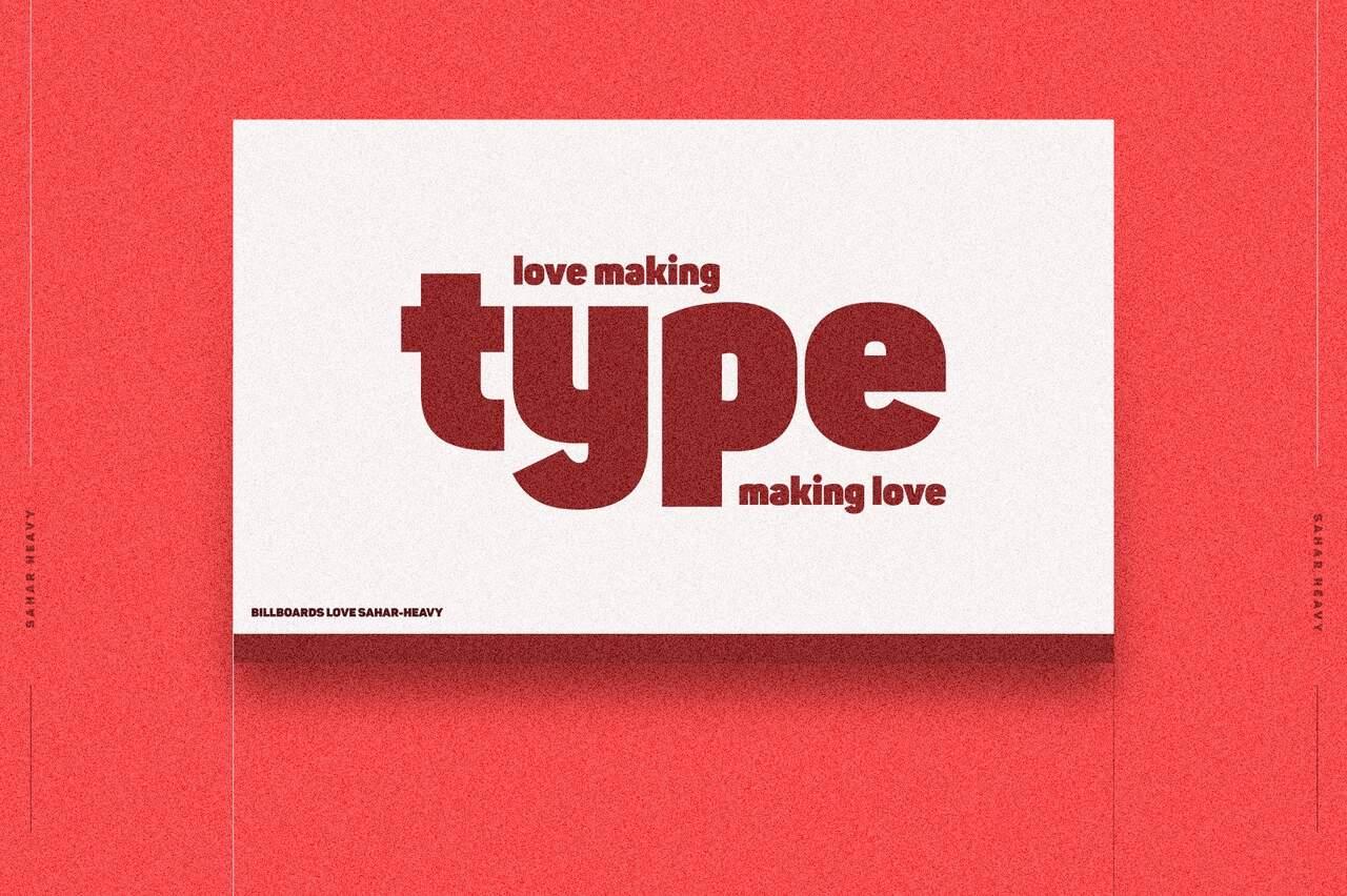 Download Sahar Sans Heavy and Outline font (typeface)