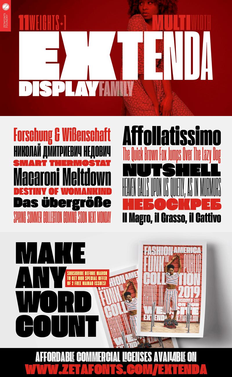 Download Extenda font (typeface)