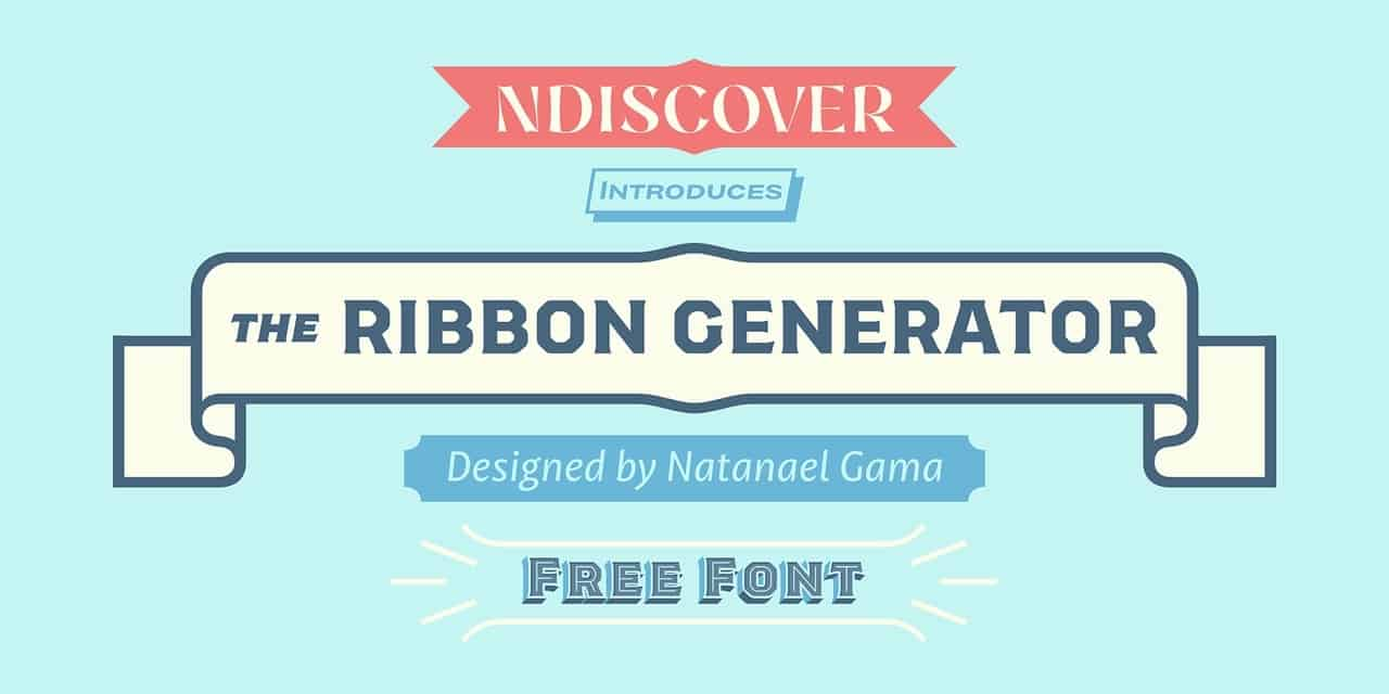 Download The Ribbon Generator font (typeface)