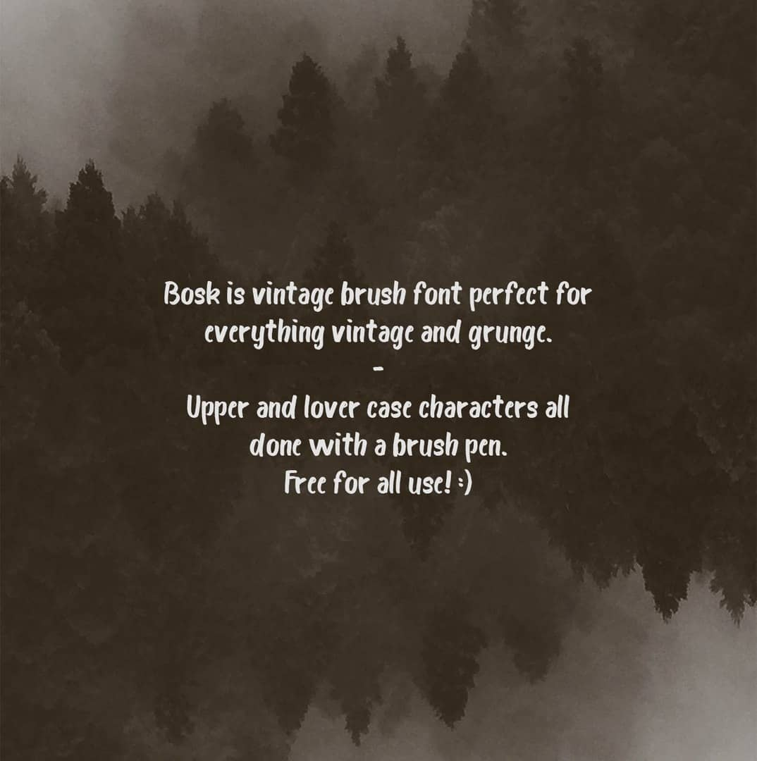 Download Bosk Brush font (typeface)