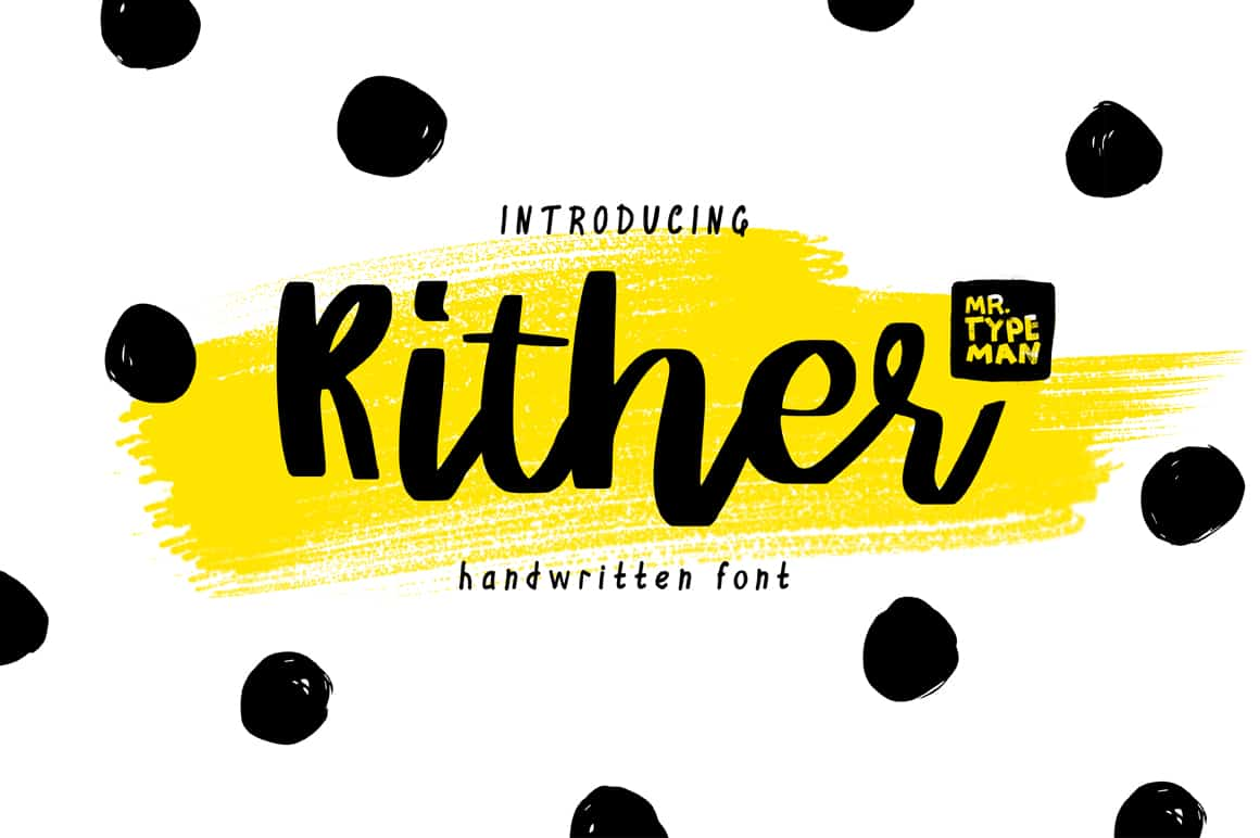 Download Rither mr. Typeman font (typeface)