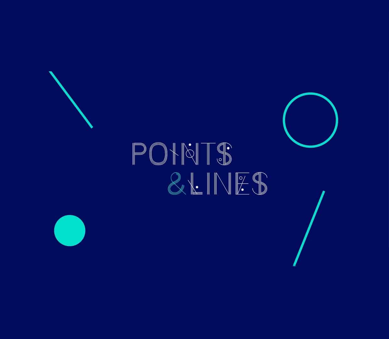Download Points lines font (typeface)