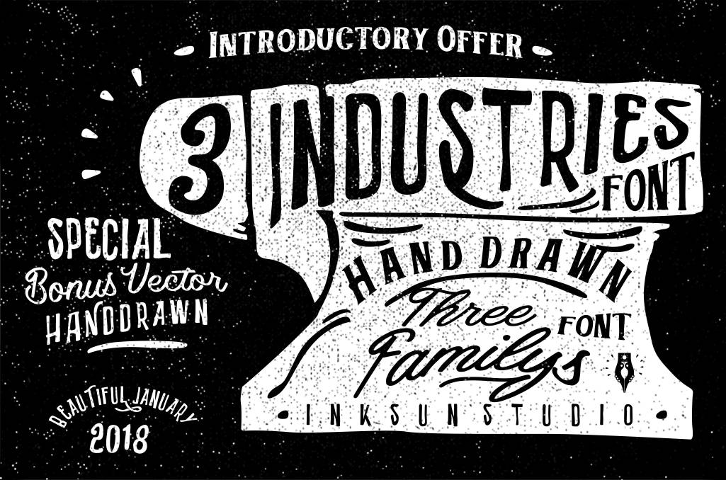 Download Industries 3 font (typeface)