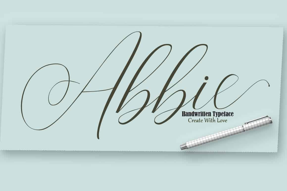Download Abbie Script font (typeface)