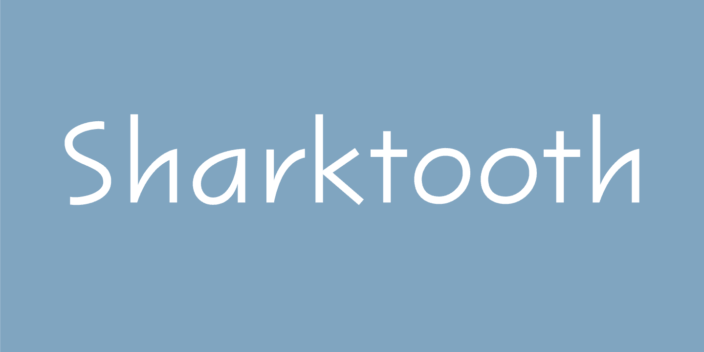 Download Sharktooth font (typeface)