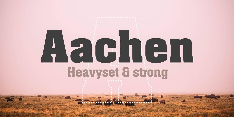 Download Aachen font (typeface)