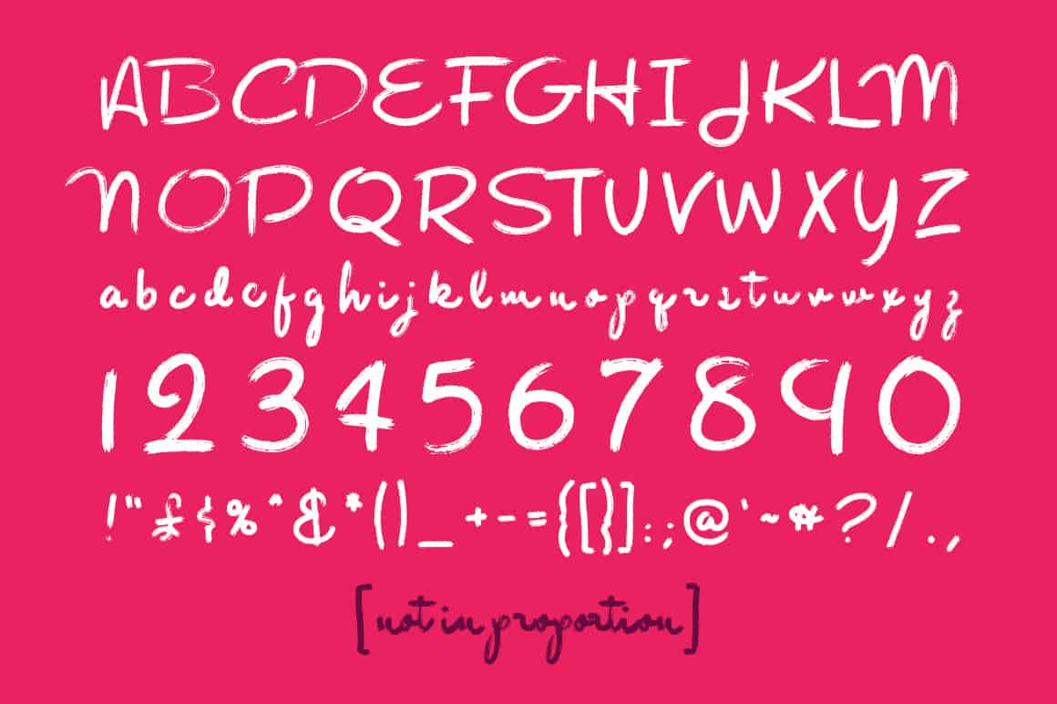 Download Rough Brush font (typeface)