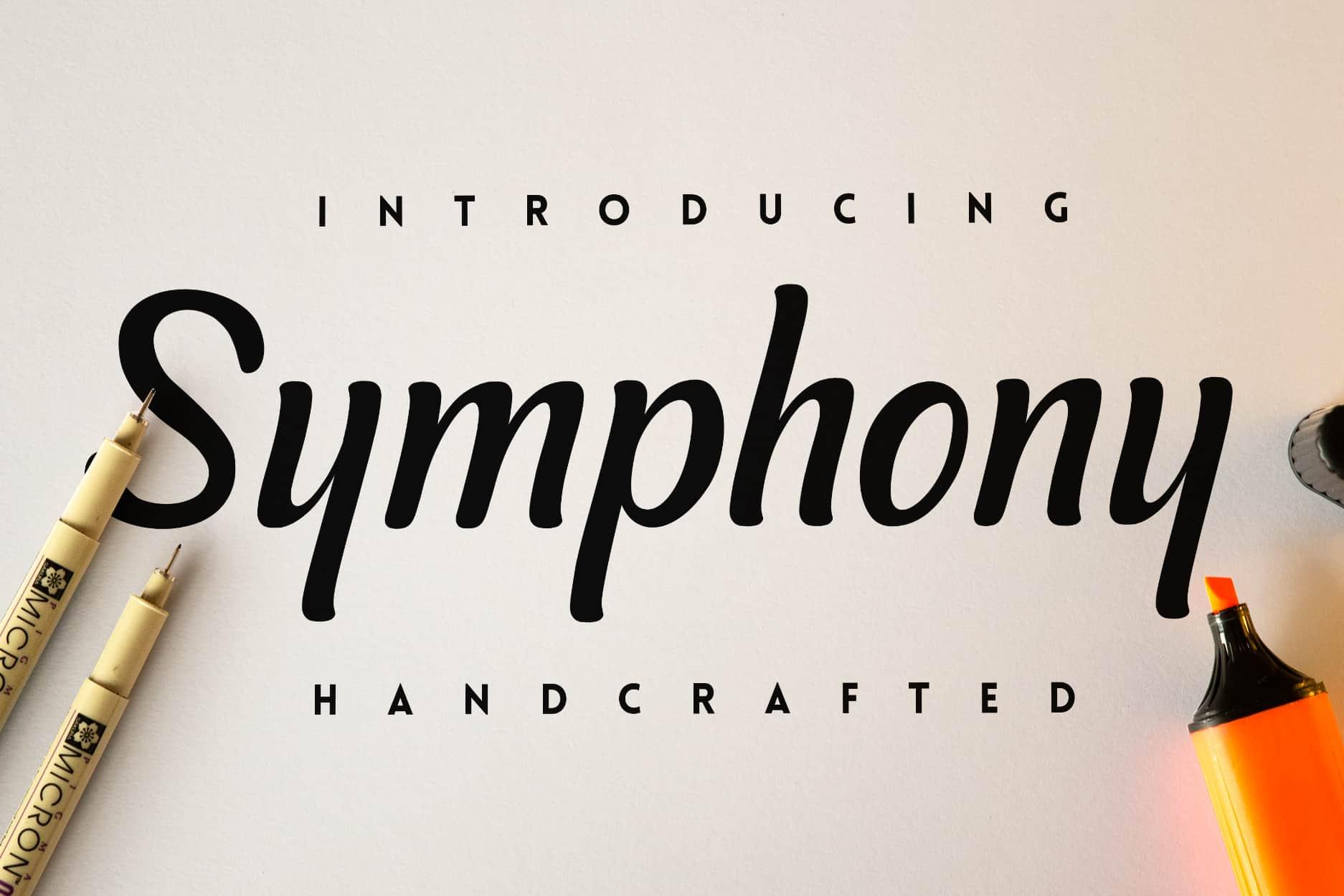 Download Symphony font (typeface)